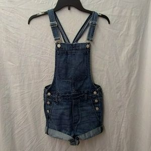 Madewell jean shorts overalls